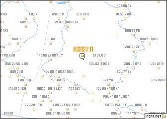 map of Kosyń