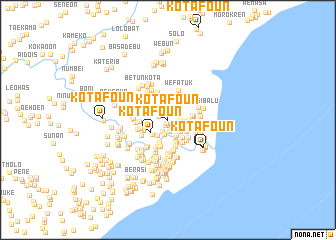 map of Kotafoun