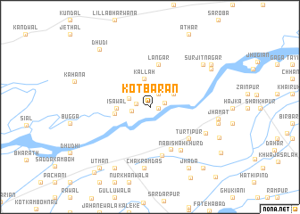 map of Kot Baran