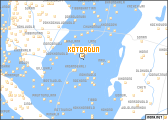 map of Kot Dādun