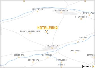 map of Kotelëvka
