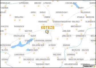 map of Koteże