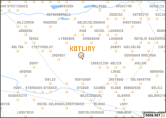 map of Kotliny