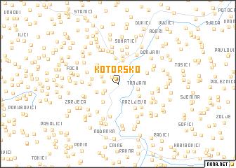 map of Kotorsko