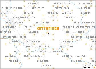 map of Kötteringe