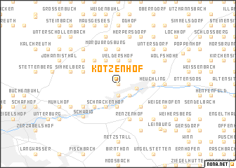 map of Kotzenhof