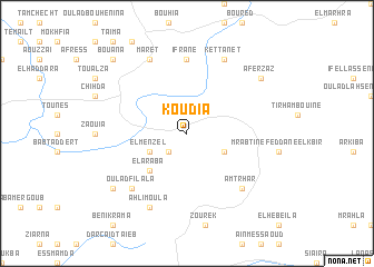 map of Koudia