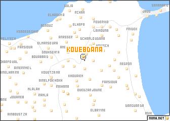 map of Kouebdana