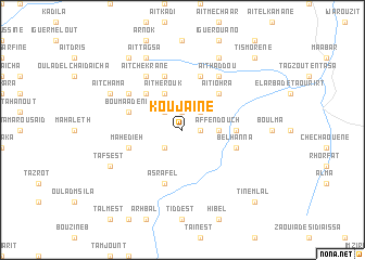 map of Koujaïne
