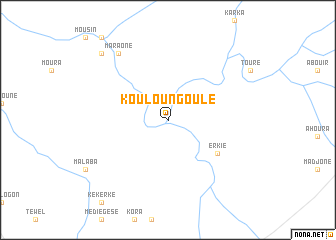 map of Kouloungoulé