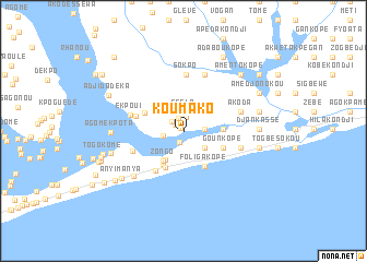 map of Koumako
