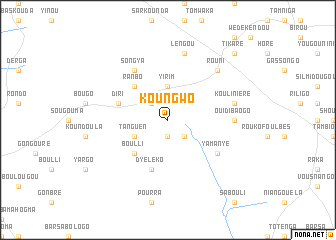 map of Koungwo
