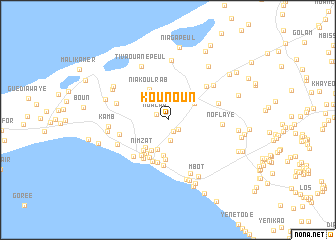 Kounoun (Senegal) map - nona.net on