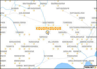 map of Kouonko Doua
