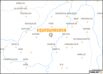 map of Kourouma Daka