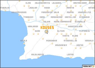map of Kousés