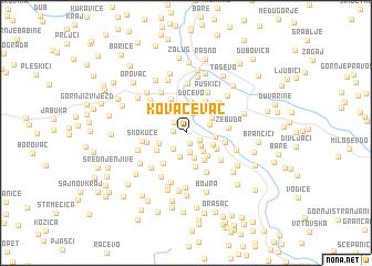 map of Kovačevac