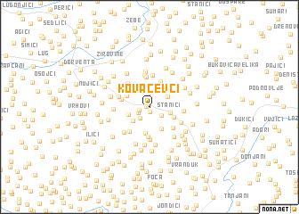 map of Kovačevci