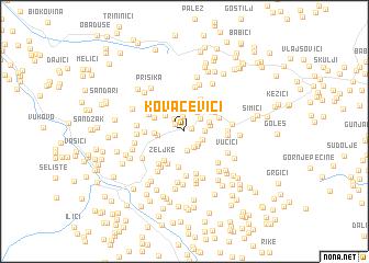 map of Kovačevići
