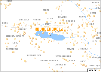 map of Kovačevo Polje