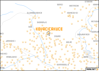 map of Kovačića Kuće