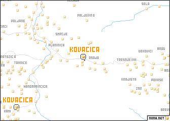 map of Kovačica
