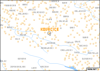map of Kovačice