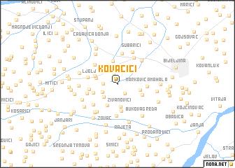 map of Kovačići