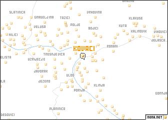 map of Kovači