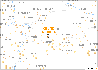 map of Kovači