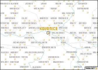 map of Kovanice