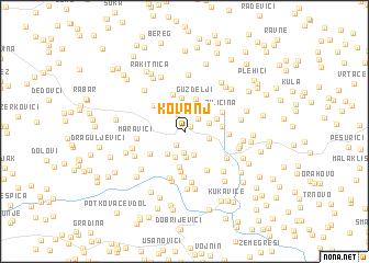 map of Kovanj