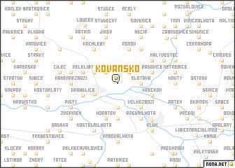 map of Kovansko