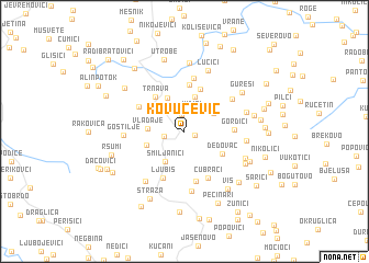 map of Kovucević
