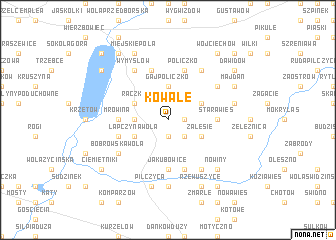 map of Kowale