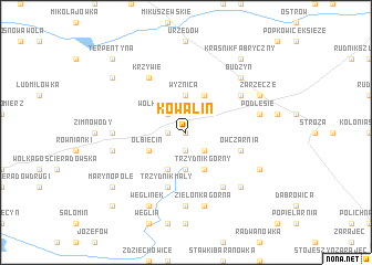 map of Kowalin