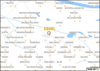 map of Kowal