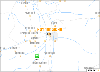 map of Koyanagichō