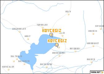 map of Köyceğiz