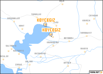 map of Köyceğiz