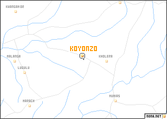 map of Koyonzo