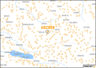 map of Kozare