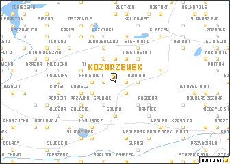 map of Kozarzewek