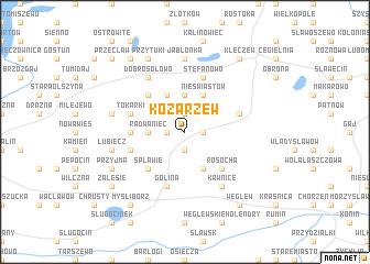 map of Kozarzew