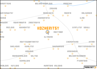 map of Kozheritsy