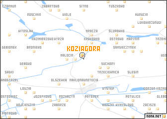 map of Koziagóra