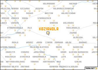 map of Kozia Wola