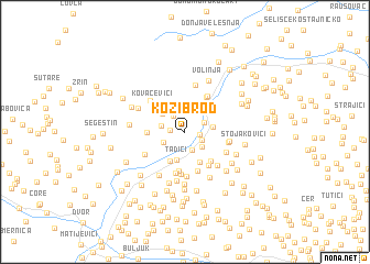 map of Kozibrod