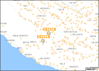 map of Kozica