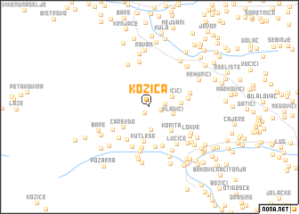 map of Kozica